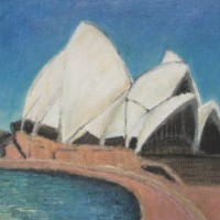 Sydney Opera House 2009, Acrylic on Canvas 31cm by 41cm