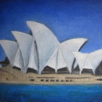 Sydney Opera House 2010, Oil on canvas 25cm x 38cm_1_1