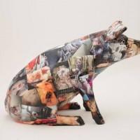 Intricate Sculpture of a pig