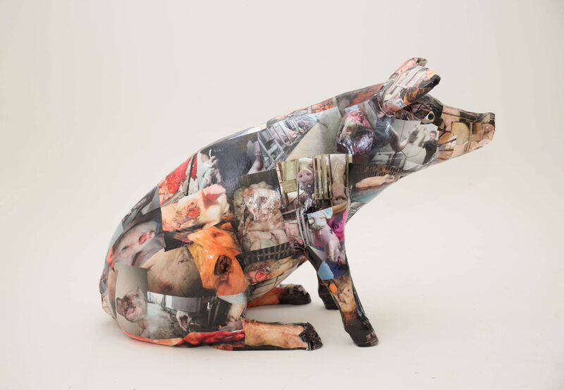Intricate Sculpture of a pig