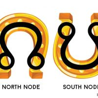 The Moon Nodes and the luck of the Horseshoes